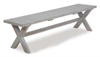 BALI 1800MM OUTDOOR BENCH - WHITE WASHED
