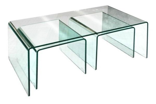 Bent glass nest of tables oblong da lewis bent glass nest of tables oblong watchthetrailerfo