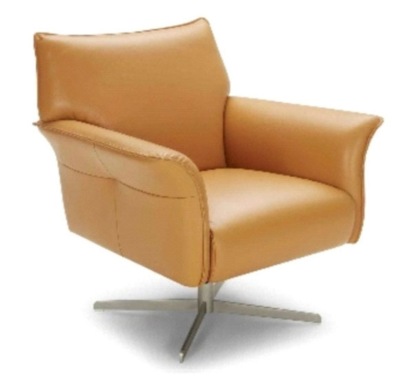 FJORD 1073 LEATHER SWIVEL RECLINER CHAIR