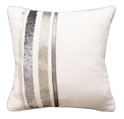 ALLOY CUSHION WITH FEATHERS 450 X 450 WHITE MULTI