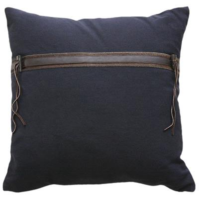 CEDER CUSHION  500 X 500 NAVY/BROWN