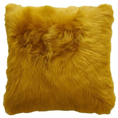 CLAUDE FAUX FUR CUSHION  450 X 450 TUMERIC