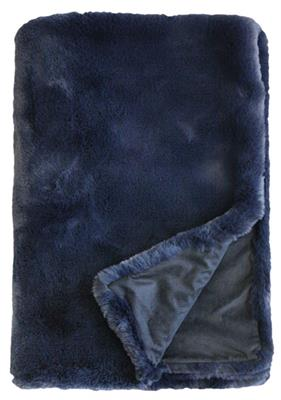 ELENORA  THROW  1250 X 1500 MIDNIGHT BLUE