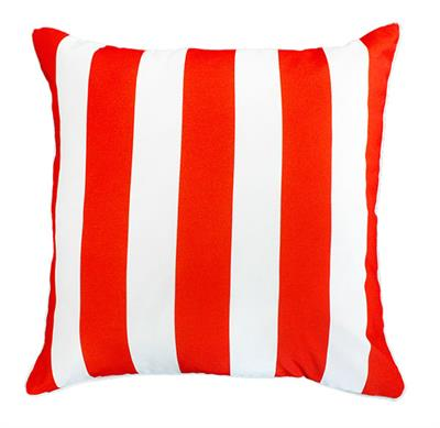 CRUISE STRIPE CUSHION 550 X 550 BLOOD ORANGE 22675C