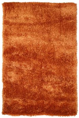 BOSTON 3000 X 2000 SHAG FLOOR RUG - RUST R-7989