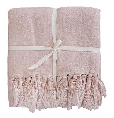 INDIRA LIN/COTTON 1900 X 1300 THROW - EVENING PINK 22523T