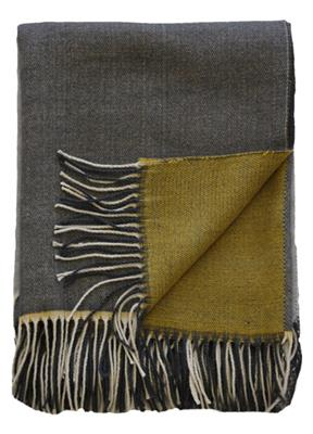 MCMURDO THROW  1300 X 1500 OCHRE/GREY