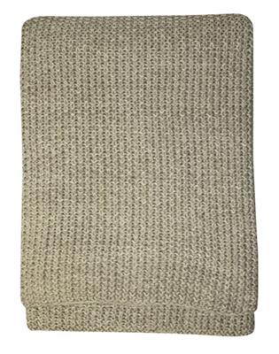 MILFORD MOSS STITCH 1500 X 1300 THROW - STON/NATURAL H21372T