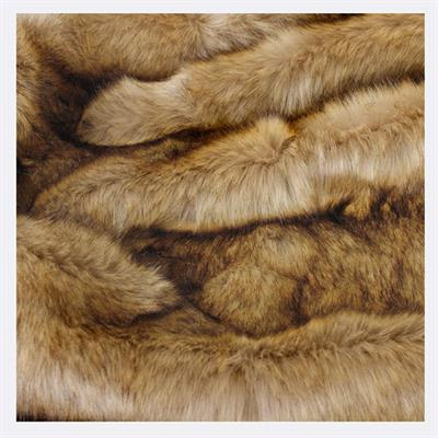 HEIRLOOM FAUX FUR THROW 1500 X 2200 HONEY BEAR