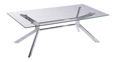 ALPHA GLASS TOP COFFEE TABLE