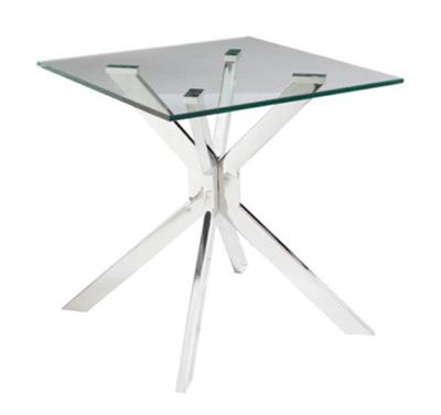 ALPHA GLASS TOP LAMP TABLE