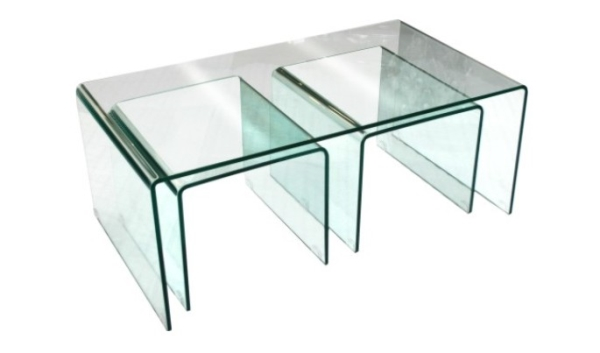 Bent Glass Nested Coffee Table